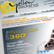 Exemple de création de site Web : YellowPackshot