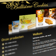 Exemple de webdesign : Bellisime Cookies
